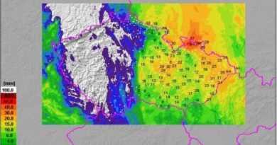 Na Moravě spadlo téměř 90mm srážek