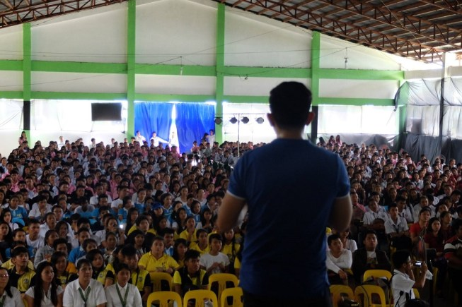 The VoiceMaster Speaks at Mindoro State College of Agriculture and Technology