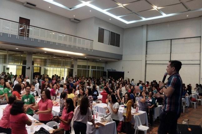 The VoiceMaster speaks to more than 500 teachers in St Matthews Publishing UnlockED 2016