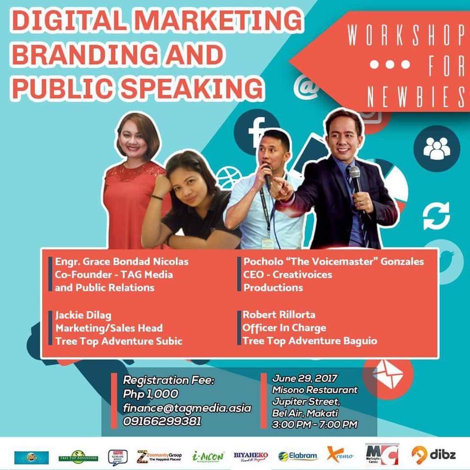 Digital Marketing Branding and Public Speaking