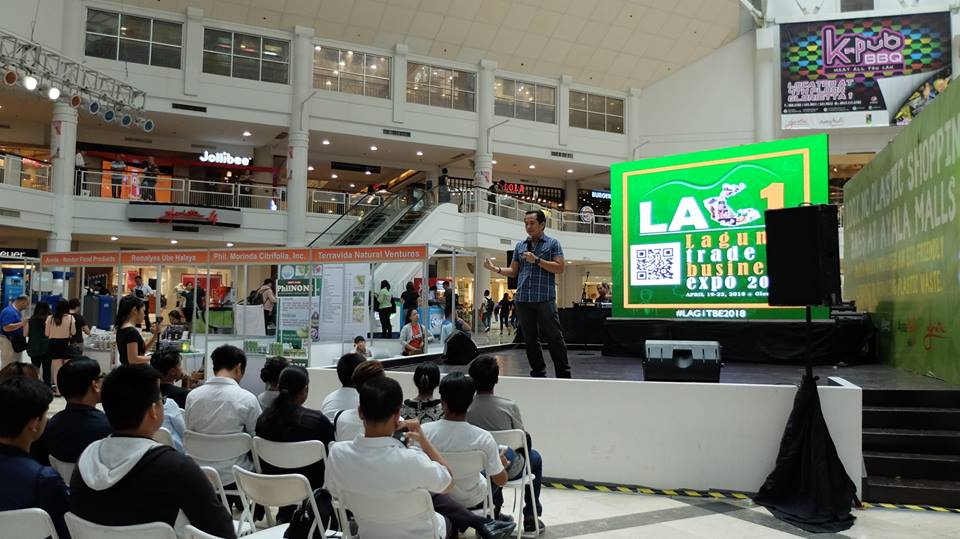 The VoiceMaster speaks at the First Laguna Trade and Business Expo