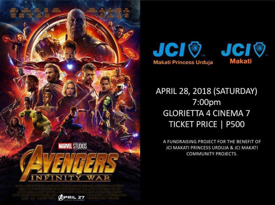 JCI Makati and JCI Makati Princess Urduja hosts special screening of Avengers Infinity War