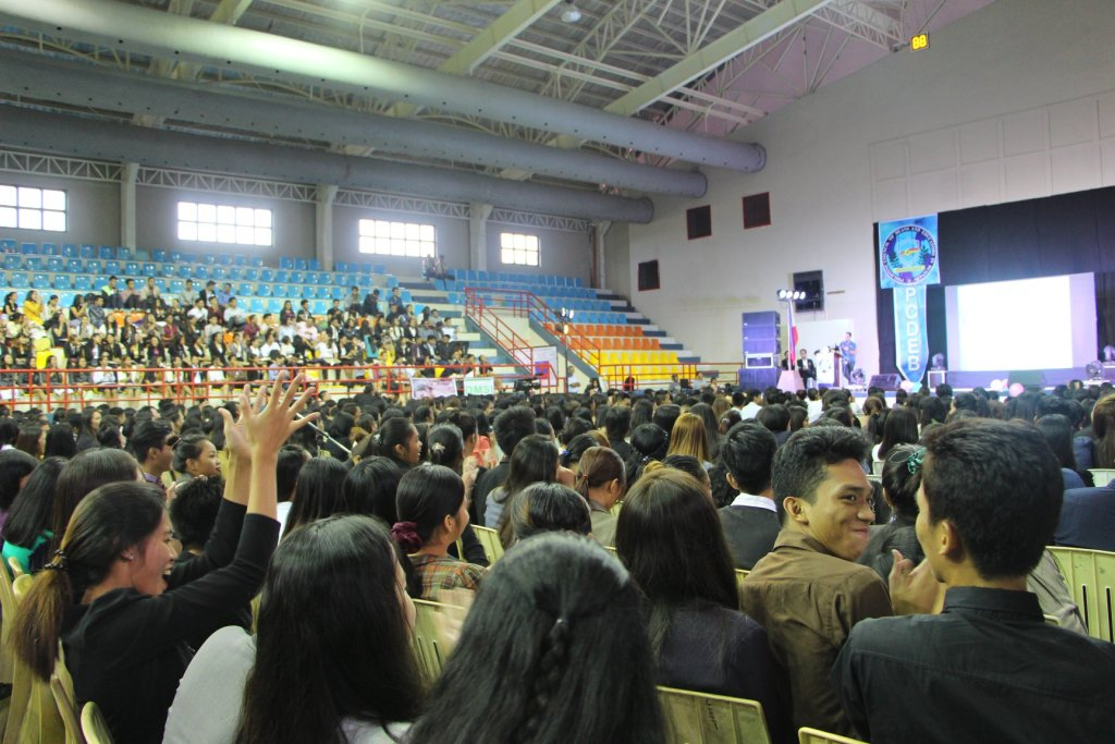 The VoiceMaster speaks at the Samar Annual Regional Students' Business Summit