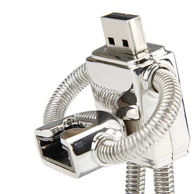 Robot USB flash drive launches