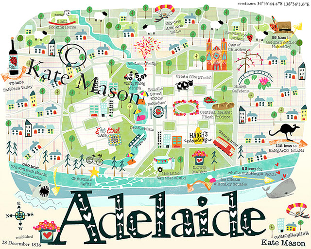 What a gorgeous map of Adelaide. Photo credit: Kate Mason