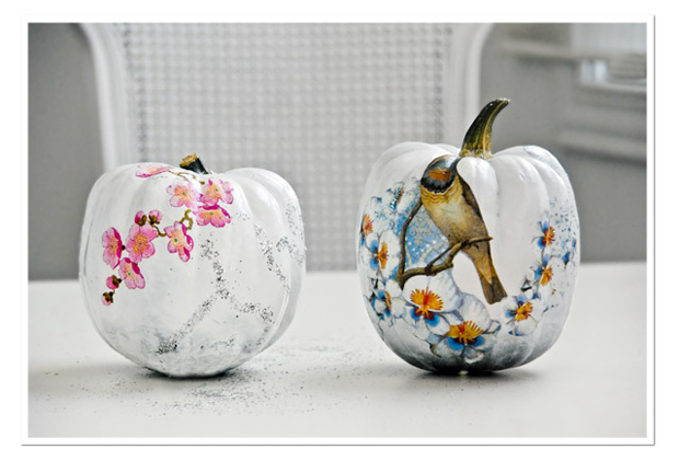 Decoupage Pumpkin, WHite Pumpkin, DIY, Free Stuff, Tutorial, Craft, How-to, Wedding Ideas, Centrepiece, Rustic, Halloween, Funkytime (3)