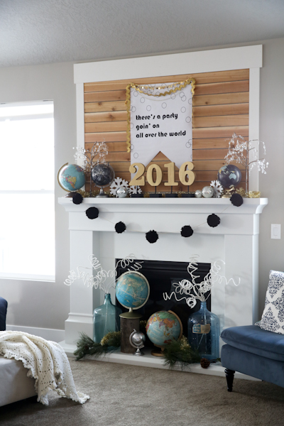 New Years Mantle Decoration- @PocketfulofPaint
