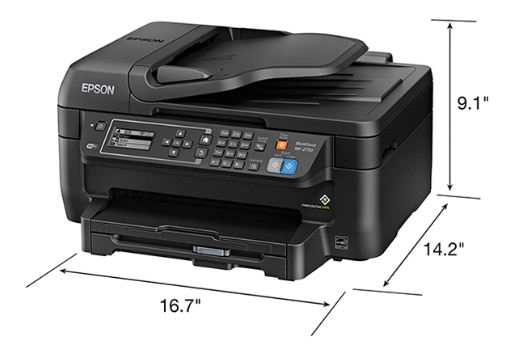 Epson WorkForce WF-2760 Size