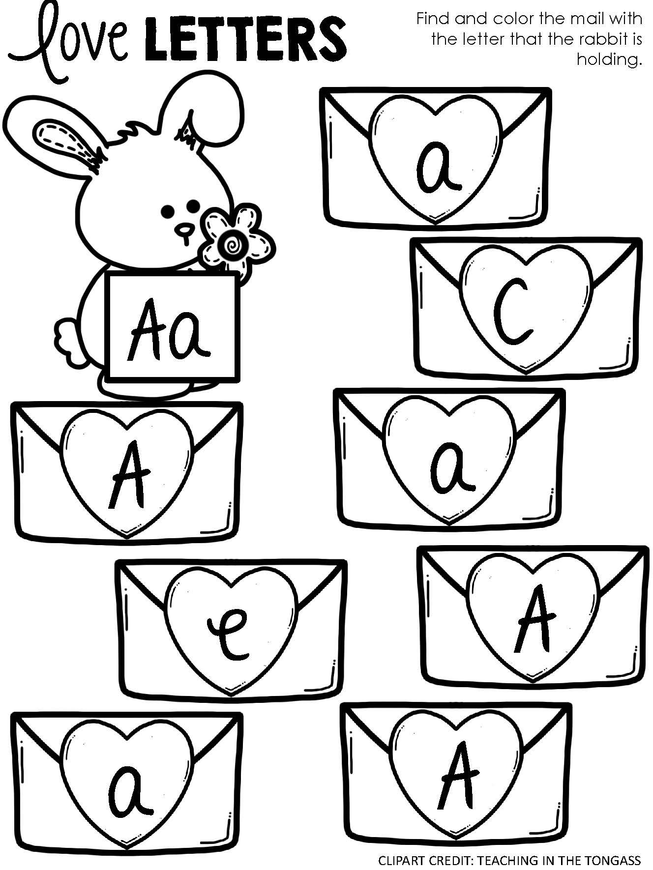 Bunny Alphabet Match Letter Activity