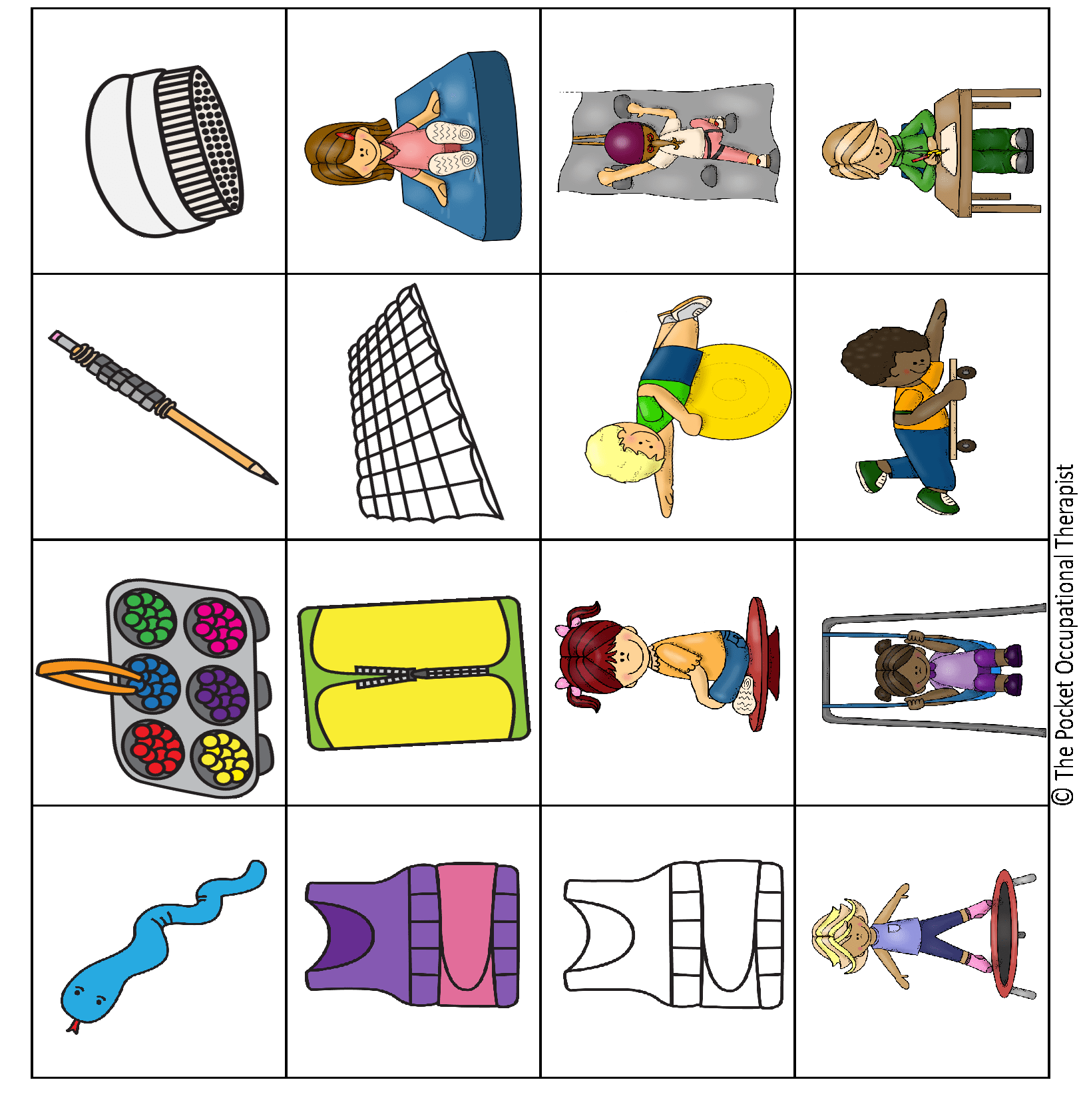 Therapy Equipment Cards