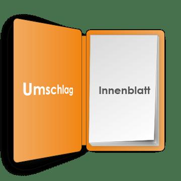 PocketPlaner Umschlag geöffnet mit Innenblatt