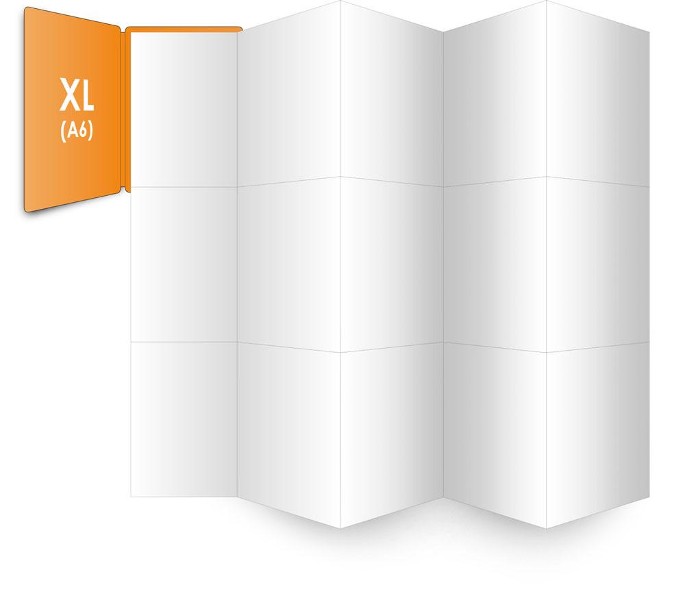 PocketPlaner-XL (DIN A6) mit ausgefaltetem Innenblatt