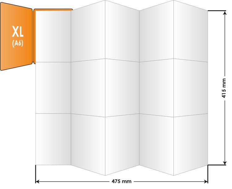 PocketPlaner-XL mit Bemassung