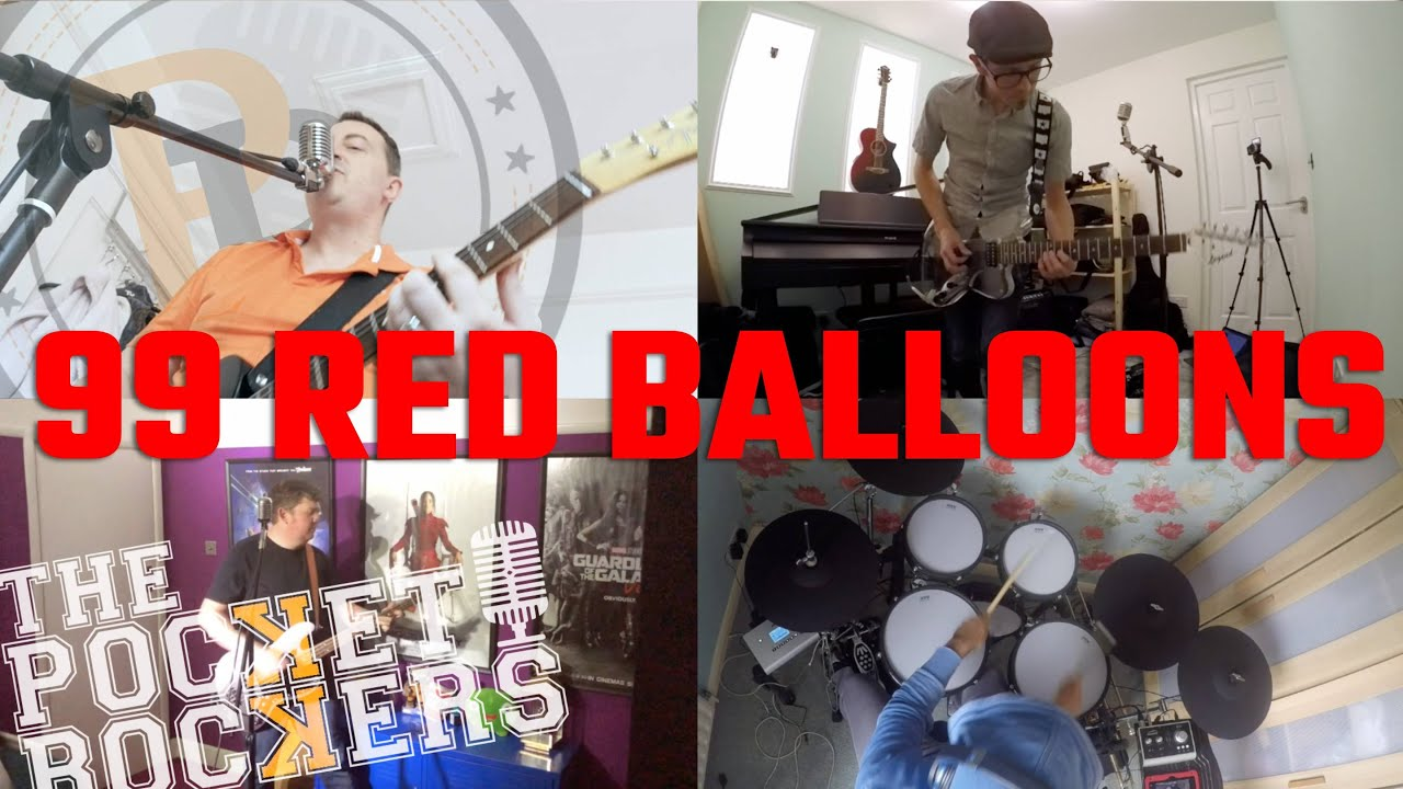 Thumbnail for the music video 99 Red Balloons performed by The Pocket Rockers