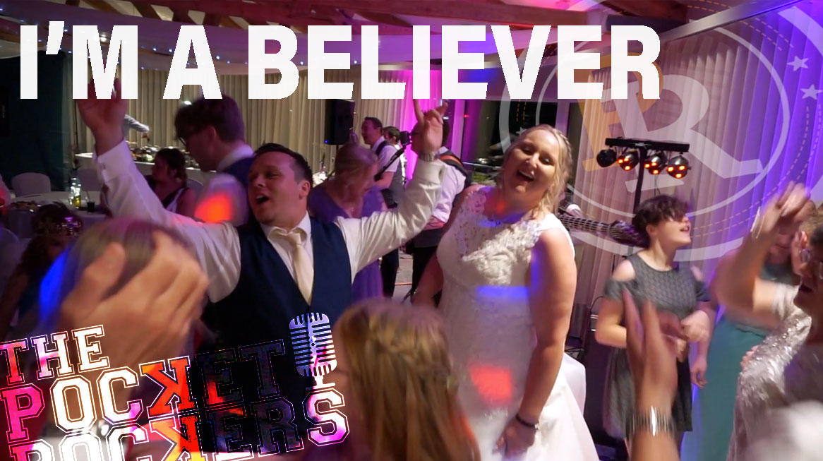 Thumbnail for the Live video of I'm A Believer performed by Hampshire Wedding Band The Pocket Rockers for a Wedding at Langstone Quays Resort