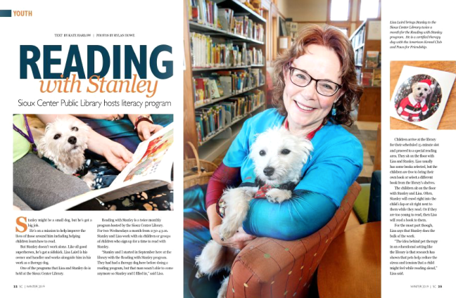 Stanley the Reading Dog gets publicity!
