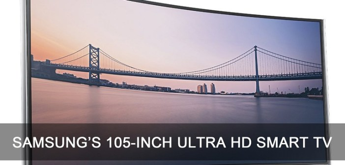 Samsungs 105 Inch 4k Curved Ultrahd Led Smart 3d Tv Available For