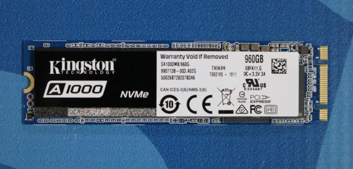 Review: Kingston A1000 M 2 NVMe SSD | Poc Network // Tech