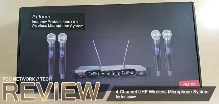 innopow 4 channel uhf wireless microphone system poc network tech. Black Bedroom Furniture Sets. Home Design Ideas