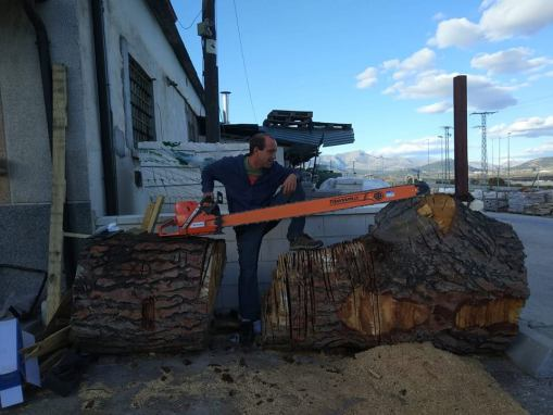 Sierra para troncos grandes
