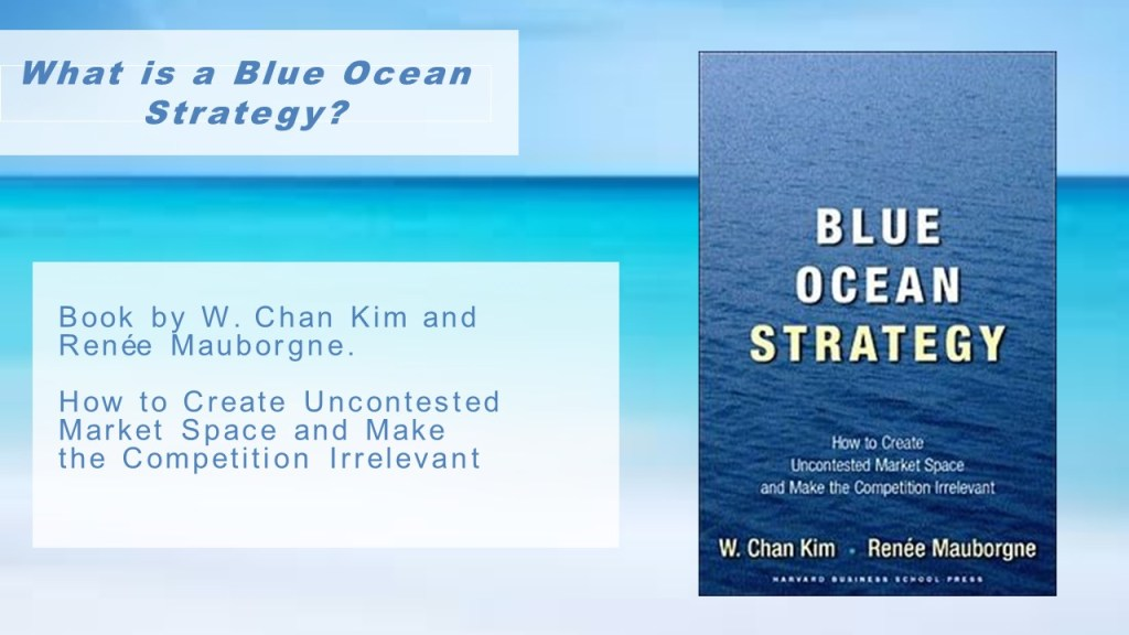 blue ocean strategy paper Blue ocean strategy an emerging concept in the context of business strategy is the blue ocean strategy as a prerequisite to understanding this theory, it.