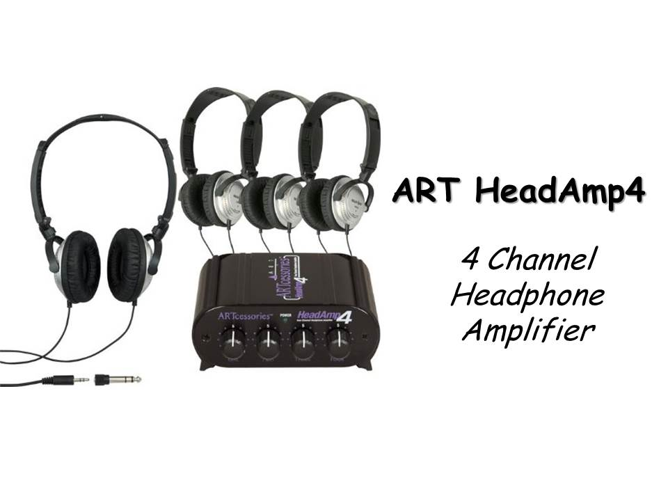 Headphone Amplifier for Podcasters |ART HeadAmp4 Four Channel