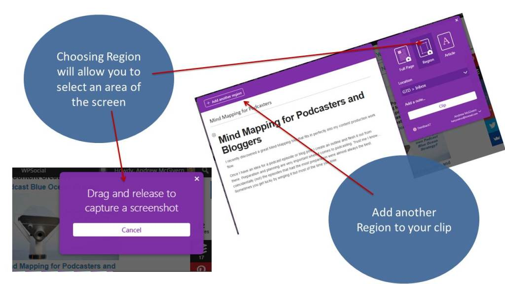 MS OneNote Web Clipper browser extension