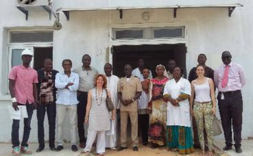Visite du chantier de l'unité pédiatrique drépanocytose financée par le gouvernement princier à Dakar. Photo (c) DCI