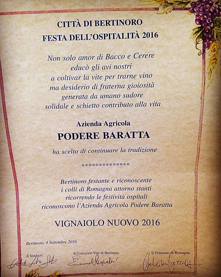 Pergamena Vignaiolo nuovo 2016
