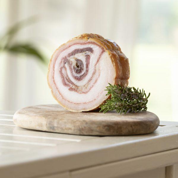 Pancetta di carne di Cinta Senese