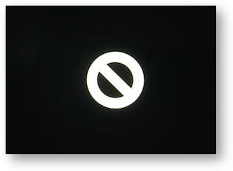 Black screen white circle line through it no boot