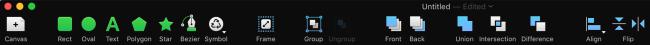 PaintCode toolbar