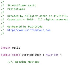 PaintCode StyleKit code header