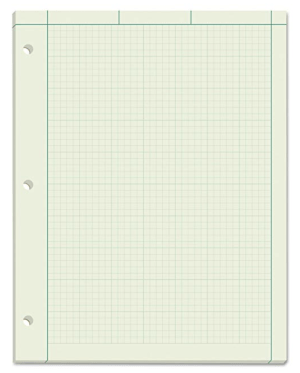 Green graph paper on amazon