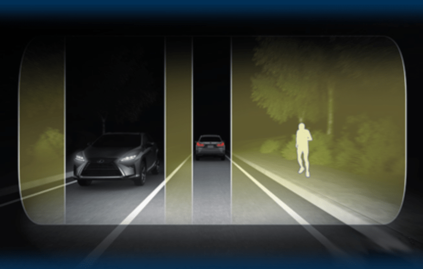 Adaptive Driving Beam Headlight Shadowing Out Oncoming and Trailing Cars