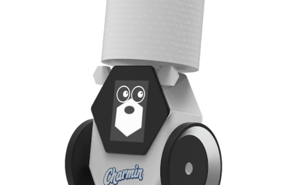 Charmin RollBot Topped with Fresh Roll of Toilet Paper