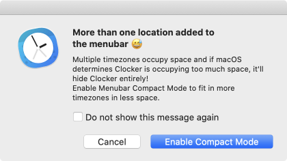Clocker too much space on menubar