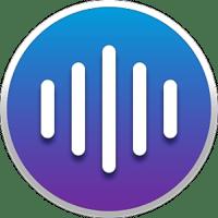 Meeter Icon blue to purple gradient, 5 vertical white bars, white stroke around circle