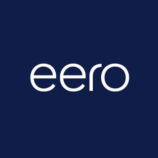 eero logo white sans serif letters on blue background