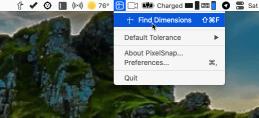 PixelSnap Menu Bar Find Dimensions