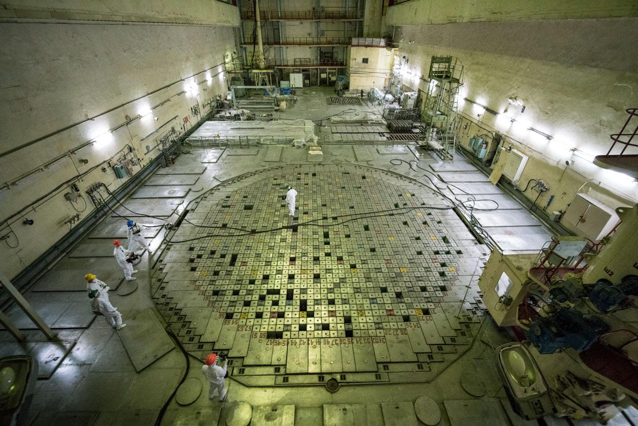 Inside Nuclear Reactor Core