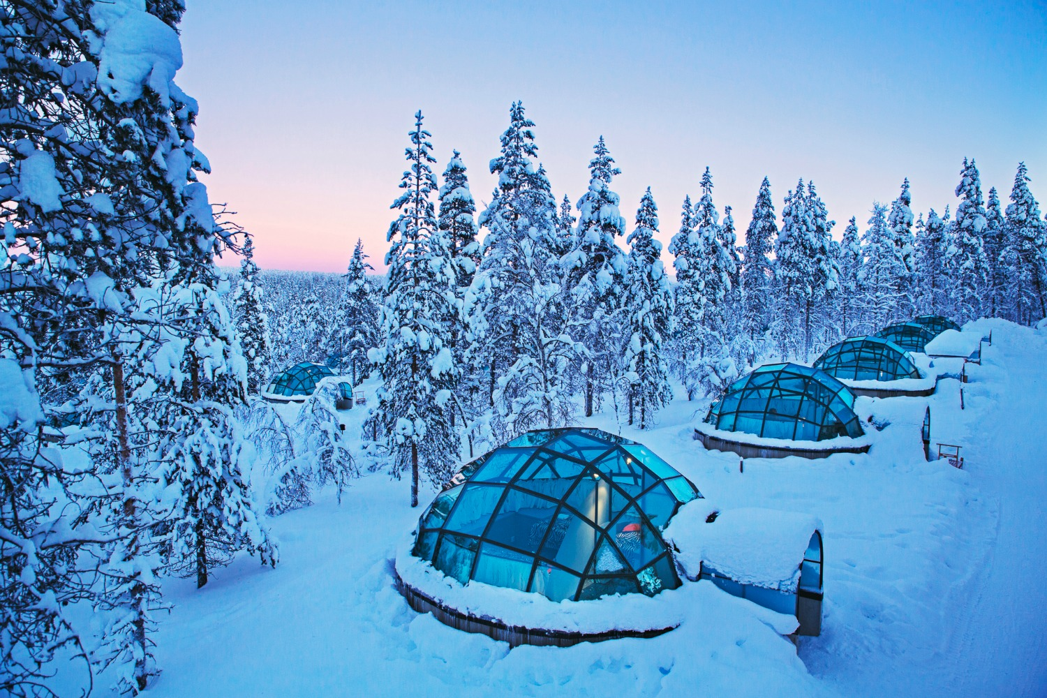 Finland Igloos Watch Northern Lights