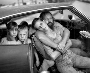 The Damm Family in Their Car, Los Angeles, CA, USA, 1987, By Mary Ellen Mark