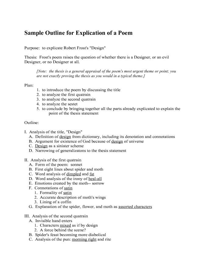 Poem Explication Sample Textpoems