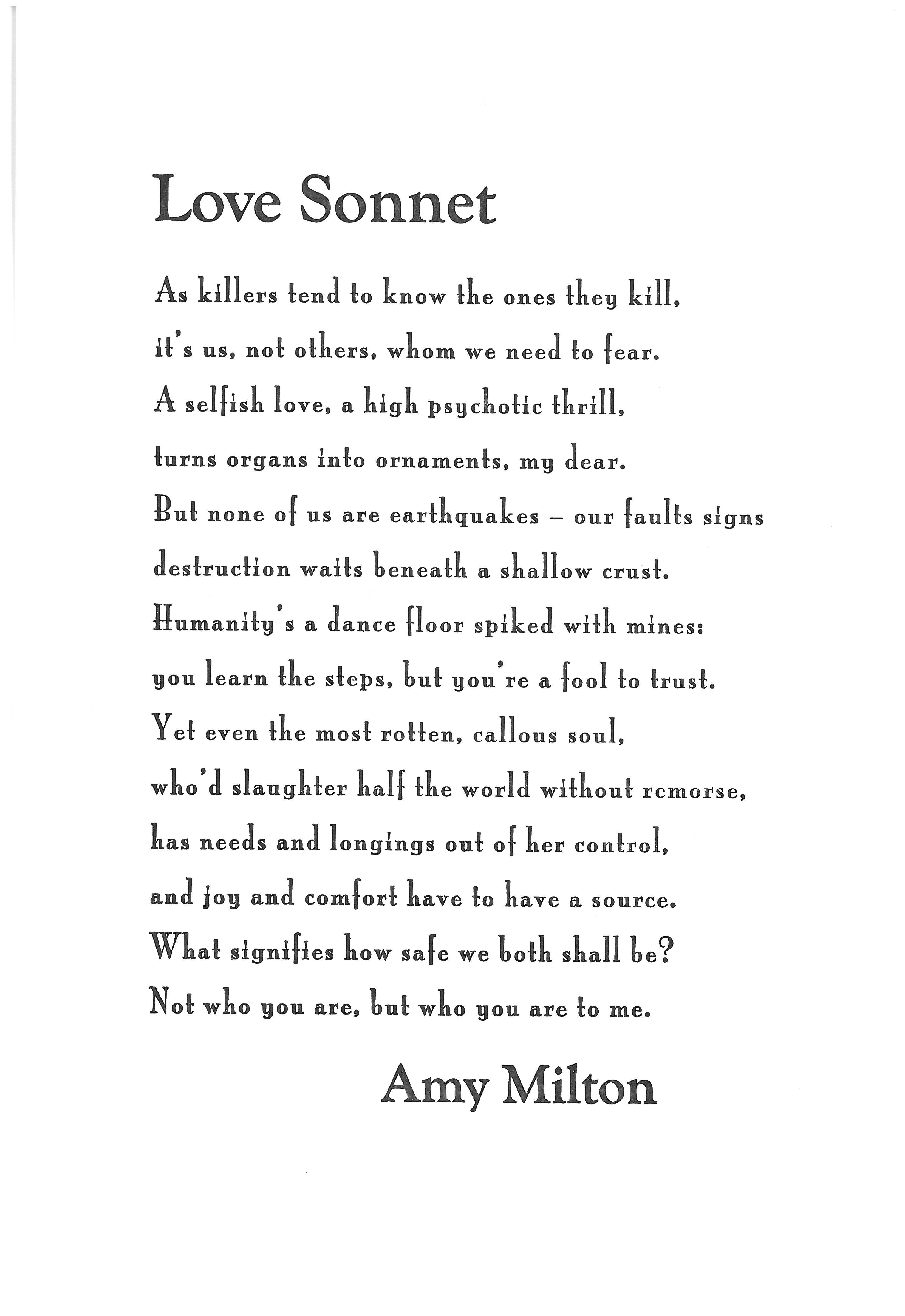 Sonnet Love Poems Poems
