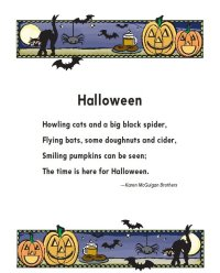 short halloween rhyming poems