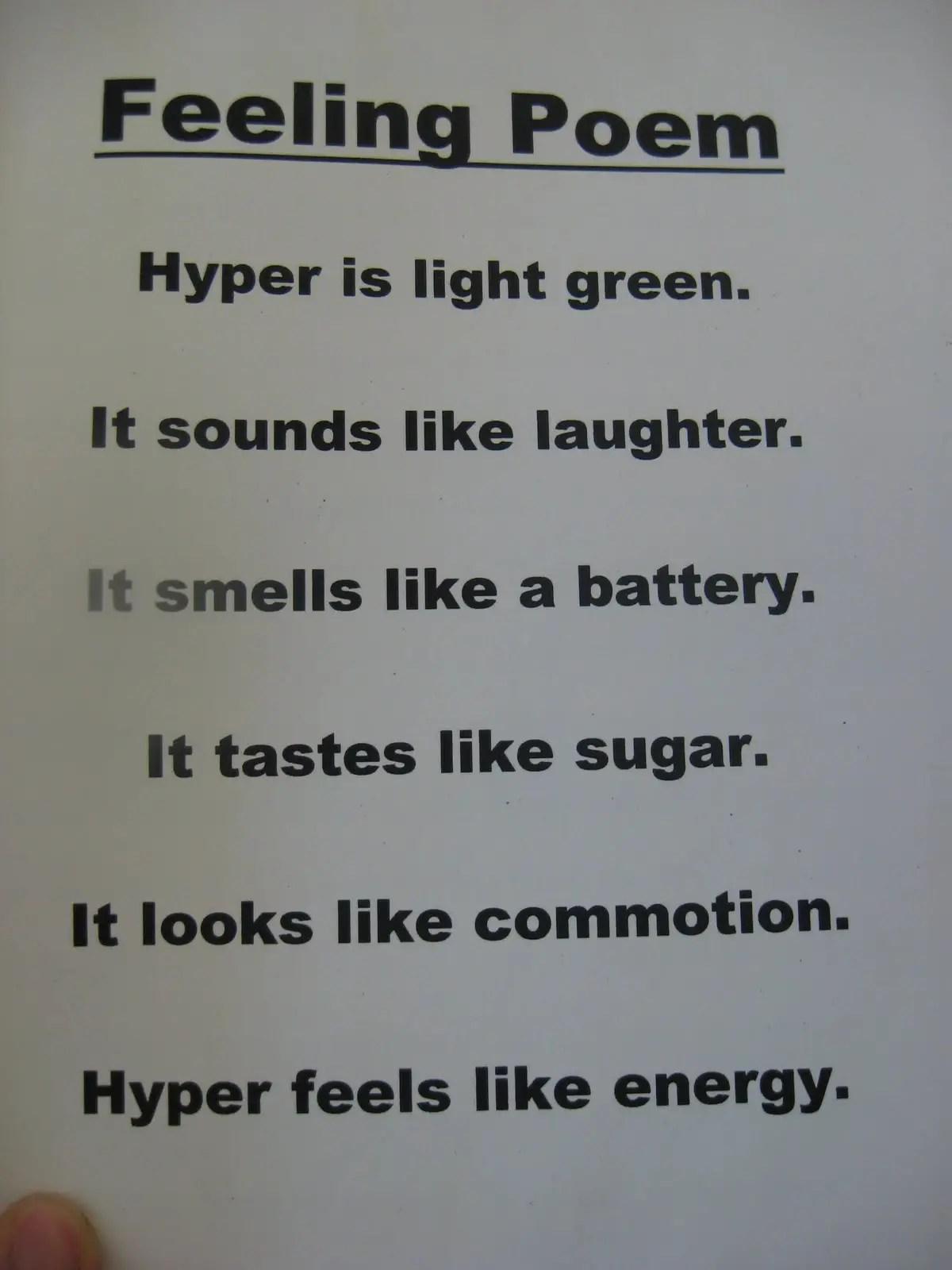 5th Grade Poems