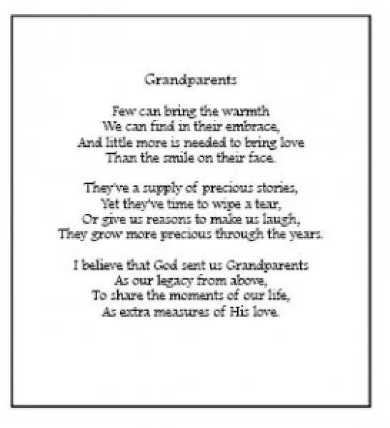 Grandparents Poems