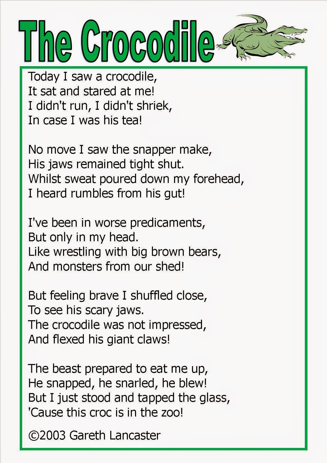Crocodile Poems