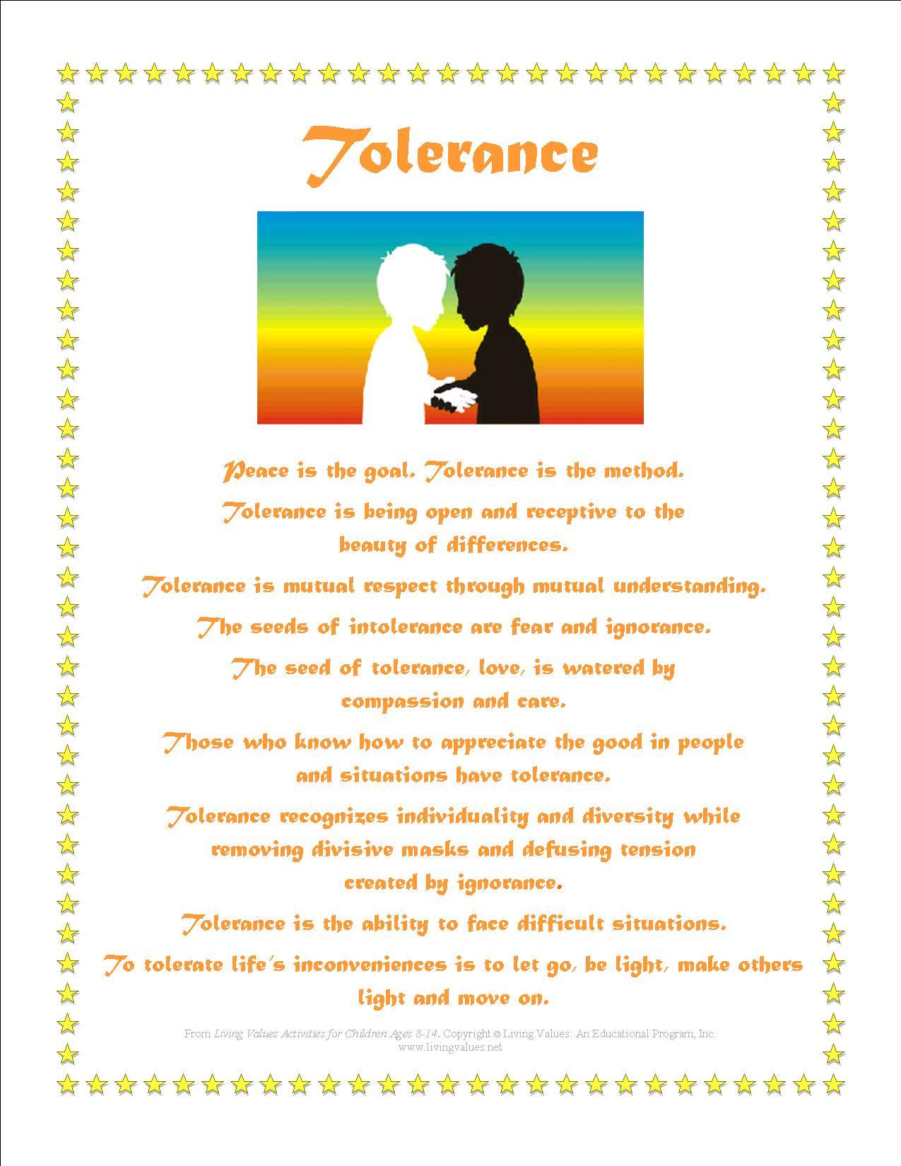 Tolerance Poems